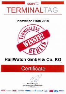 """RailWatch räumt weiter ab ;""""Innovation Pitch"""" auf dem SGKV Terminaltag"""